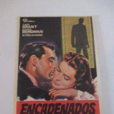 Cine: OCTAVILLA PAPEL ENCADENADOS ORIGINAL DE 1967 ALFRED HITCHCOCK CARY GRANT INGRID BERGMAN 13 X 9. Lote 117677943