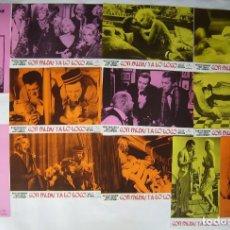 Cine: CON FALDAS Y A LO LOCO, CON MARILYN MONROE. JUEGO COMPLETO DE 12 FOTOCROMOS.. Lote 163313282