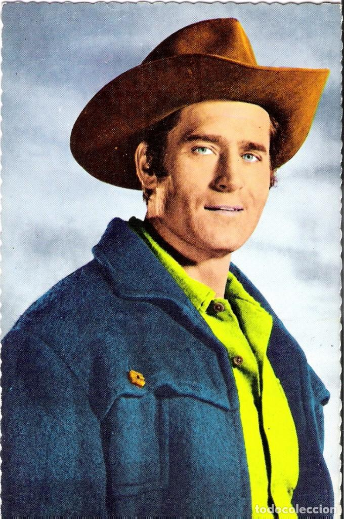POSTAL ORIGINAL A COLOR AÑOS 60 (CLINT WALKER) (Cine - Fotos y Postales de Actores y Actrices)