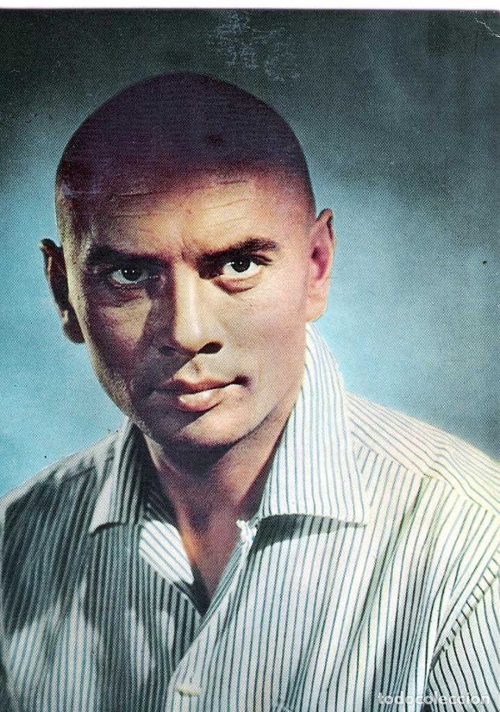 FOTO ORIGINAL A COLOR AÑOS 60 (YUL BRYNNER) (Cine - Fotos y Postales de Actores y Actrices)