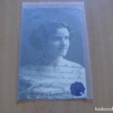 Cine: A. NOLLA - POSTAL CON FIRMA O AUTOGRAFO - AÑO 1900 - FOTO COLON , CASTELLON. Lote 121348255