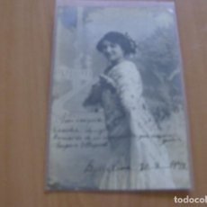 Cine: AMPARO ALAPONT - POSTAL CON FIRMA O AUTOGRAFO - BARCELONA AÑO 1912 - POSTAL LIT. MAGDA. Lote 121351047