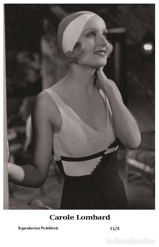 CAROLE LOMBARD - FILM STAR PIN UP - SWIFTSURE PHOTO POSTCARD 2000 41/4 (Cine - Fotos y Postales de Actores y Actrices)