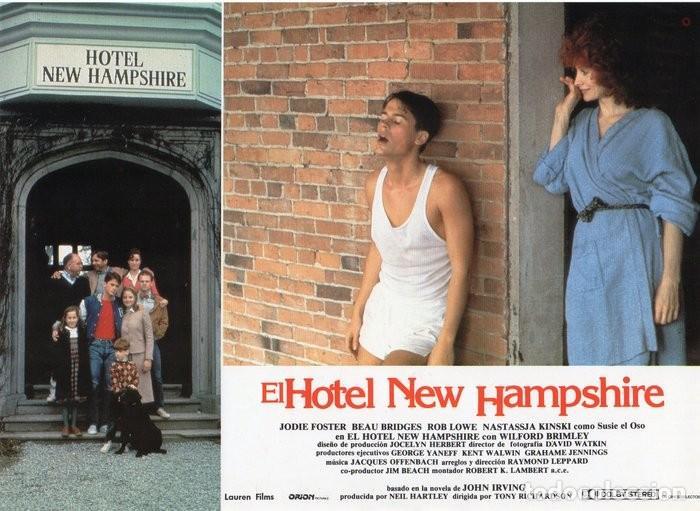 HOTEL NEW HAMPSHIRE. CARTELERA DE 12 FOTOCROMOS (Cine - Fotos, Fotocromos y Postales de Películas)