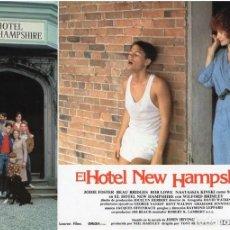 Cine: HOTEL NEW HAMPSHIRE. CARTELERA DE 12 FOTOCROMOS. Lote 122976595