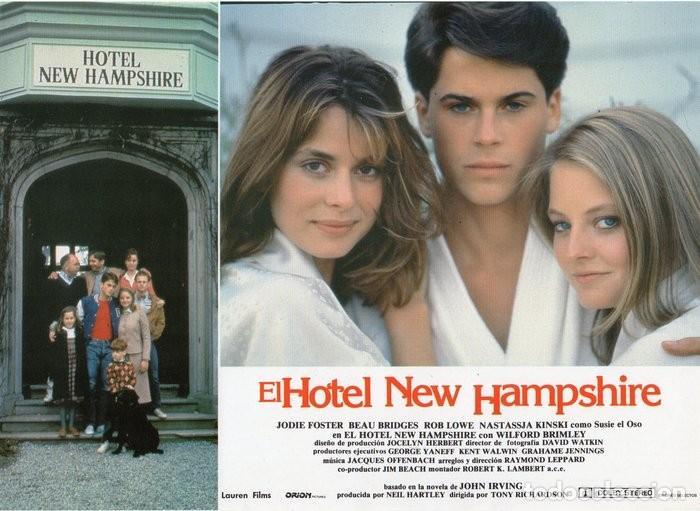 Cine: HOTEL NEW HAMPSHIRE. CARTELERA DE 12 FOTOCROMOS - Foto 2 - 122976595
