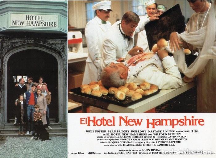 Cine: HOTEL NEW HAMPSHIRE. CARTELERA DE 12 FOTOCROMOS - Foto 3 - 122976595