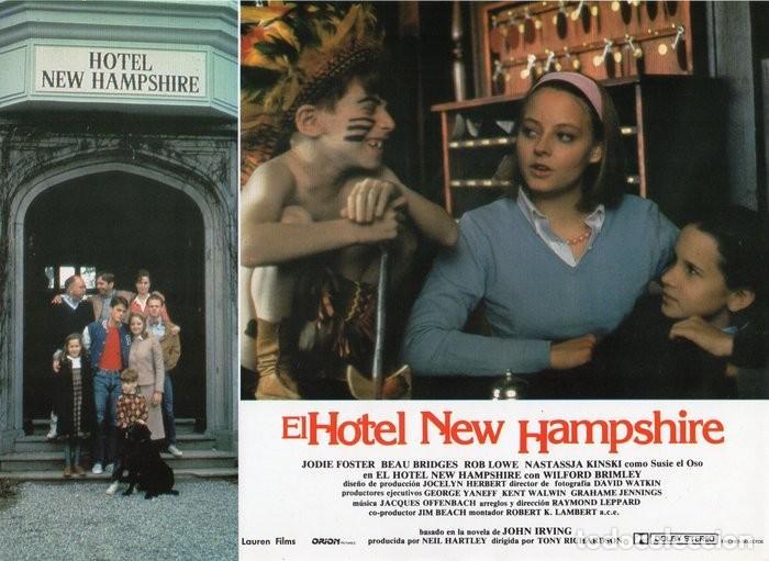 Cine: HOTEL NEW HAMPSHIRE. CARTELERA DE 12 FOTOCROMOS - Foto 5 - 122976595