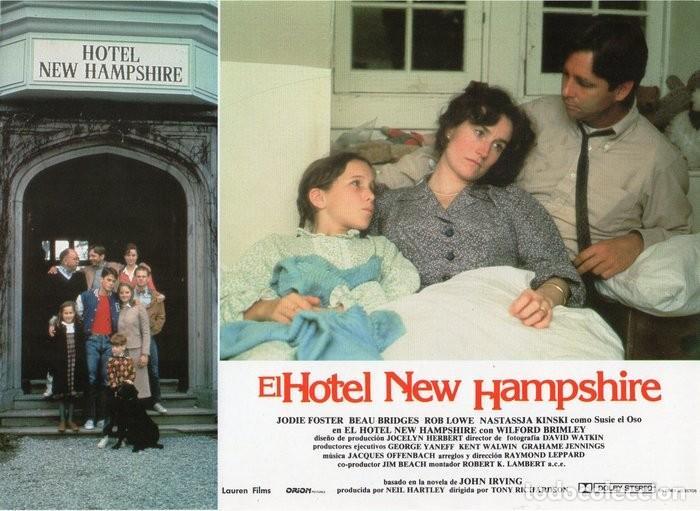 Cine: HOTEL NEW HAMPSHIRE. CARTELERA DE 12 FOTOCROMOS - Foto 6 - 122976595