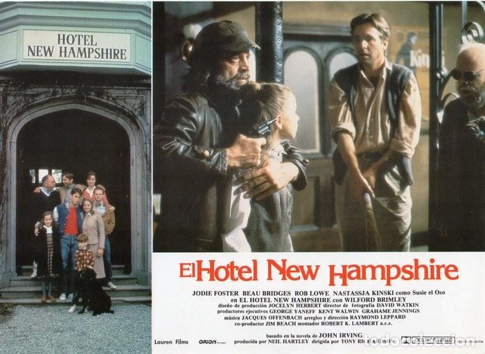 Cine: HOTEL NEW HAMPSHIRE. CARTELERA DE 12 FOTOCROMOS - Foto 7 - 122976595