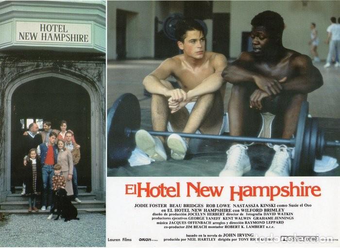 Cine: HOTEL NEW HAMPSHIRE. CARTELERA DE 12 FOTOCROMOS - Foto 9 - 122976595