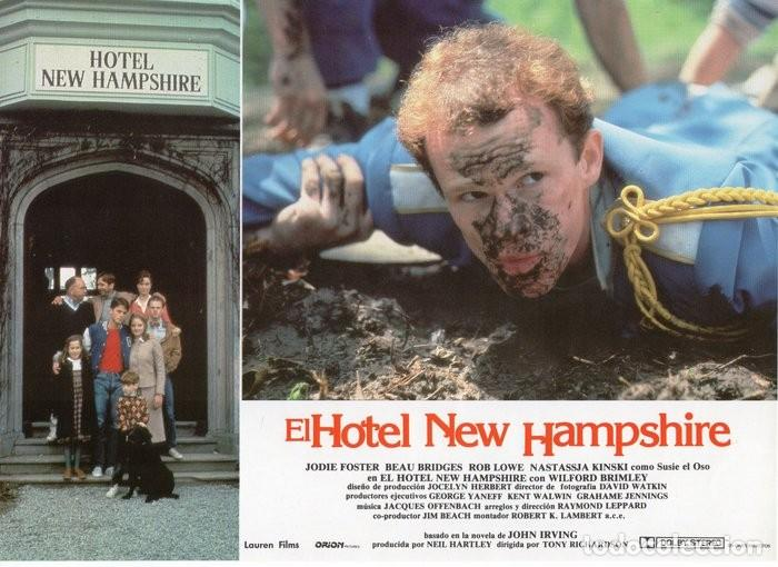 Cine: HOTEL NEW HAMPSHIRE. CARTELERA DE 12 FOTOCROMOS - Foto 10 - 122976595