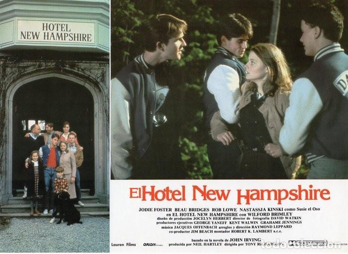 Cine: HOTEL NEW HAMPSHIRE. CARTELERA DE 12 FOTOCROMOS - Foto 12 - 122976595