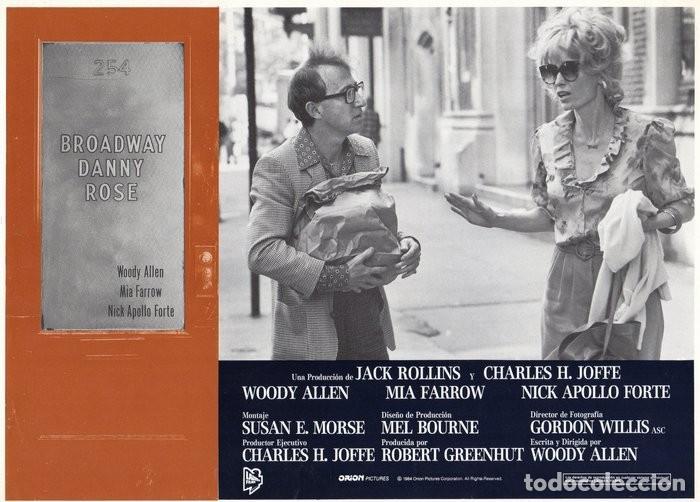BROADWAY DANNY ROSE. (WOODY ALLEN) CARTELERA 9 FOTOCROMOS (Cine - Fotos, Fotocromos y Postales de Películas)