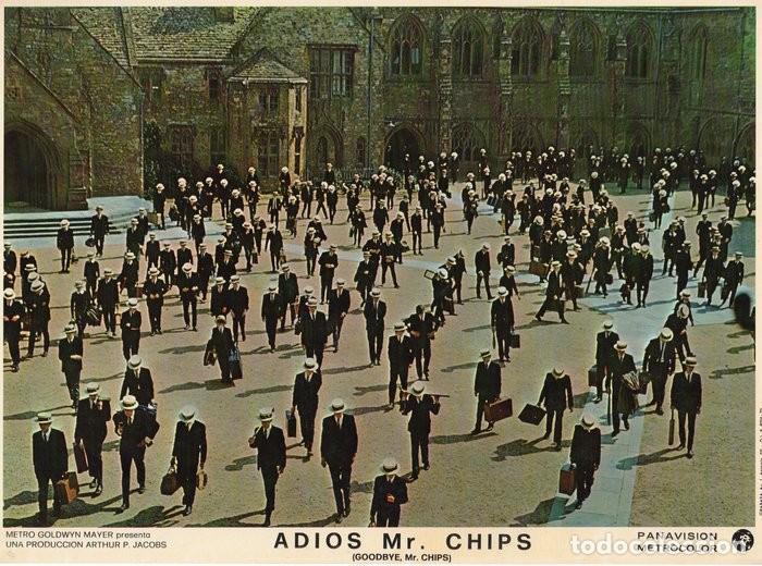 ADIOS MR CHIPS. AÑO 1969.CARTELERA DE 3 FOTOCROMOS (Cine - Fotos, Fotocromos y Postales de Películas)
