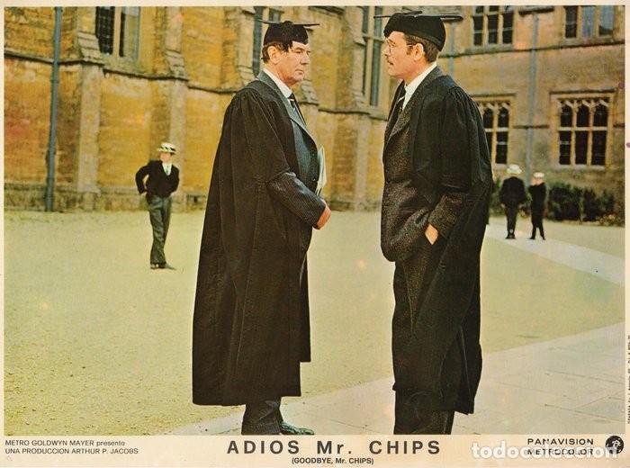 Cine: ADIOS MR CHIPS. AÑO 1969.CARTELERA DE 3 FOTOCROMOS - Foto 2 - 124367487