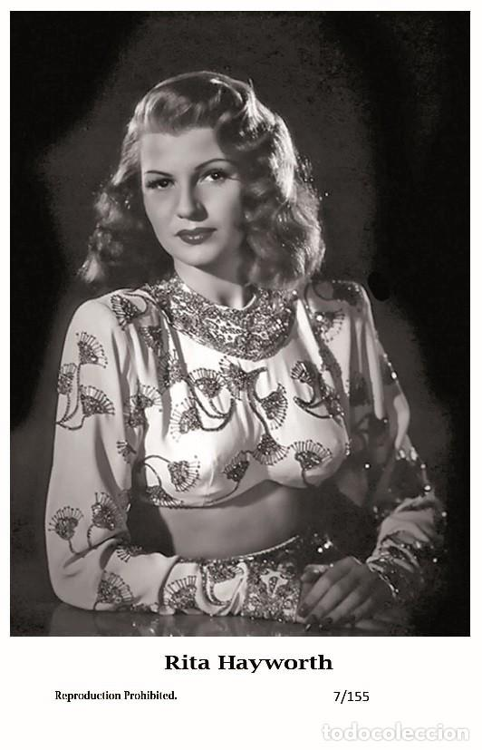 RITA HAYWORTH - FILM STAR PIN UP PHOTO POSTCARD - 7-155 SWIFTSURE POSTCARD (Cine - Fotos y Postales de Actores y Actrices)