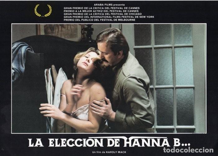LA ELECCIÓN DE HANNA B. 8 FOTOCROMOS ORIGINAL (Cine - Fotos, Fotocromos y Postales de Películas)