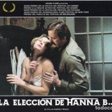 Cine: LA ELECCIÓN DE HANNA B. 8 FOTOCROMOS ORIGINAL. Lote 124885991