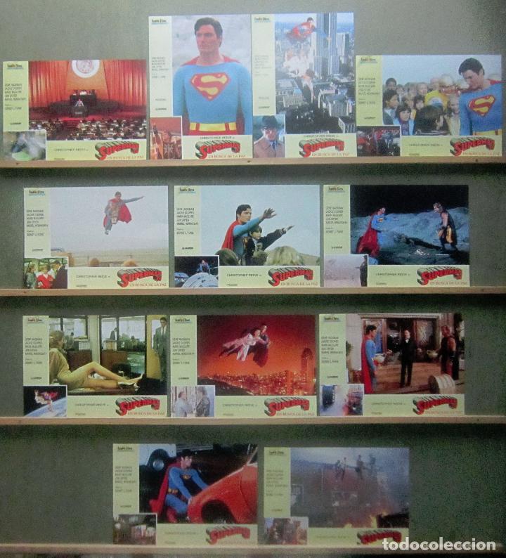 YR60 SUPERMAN 4 CHRISTOPHER REEVE MARIEL HEMINGWAY SET COMPLETO 12 FOTOCROMOS ORIGINAL ESTRENO (Cine - Fotos, Fotocromos y Postales de Películas)