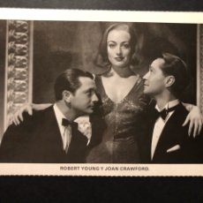 Cine: POSTAL JOAN CRAWFORD ROBERT YOUNG FRANCHOT TONE. Lote 125211402