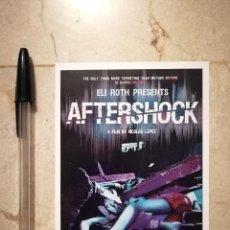 Cine: FICHA COLECCIONABLE -10*15- AFTERSHOCK - GORE - TERROR - ELI ROTH. Lote 125350959