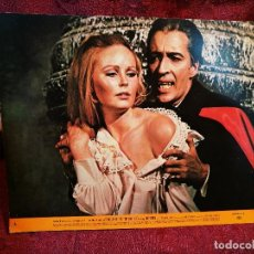 Cine: LOBBY CARD FOTOCROMO CARTELERA CHRISTOPHER LEE --DRACULA -1968 DRACULA VUELVE DE LA TUMBA--CARTULINA. Lote 174091010