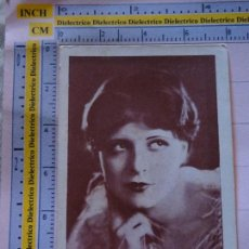 Cinema: ANTIGUO FOTO CROMO POSTAL DE CINE. IBERIA SERIE B 6 CLARA BOW. 2327. Lote 126913623