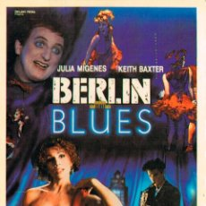 Cine: BERLIN BLUES CON JOSE CORONADO Y JAVIER GURRUCHAGA. Lote 194666570