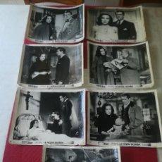 Cinema: LA PASION DESNUDA - MARIA FELIX - AÑO 1953 - LOTE DE 7 FOTOGRAMAS ORIGINALES - 25 X 21 CMS.. Lote 130552078