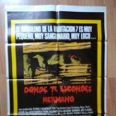 Cine: E-POSTER DE LA PELICULA --DONDE TE ESCONDES HERMANO. Lote 130713579