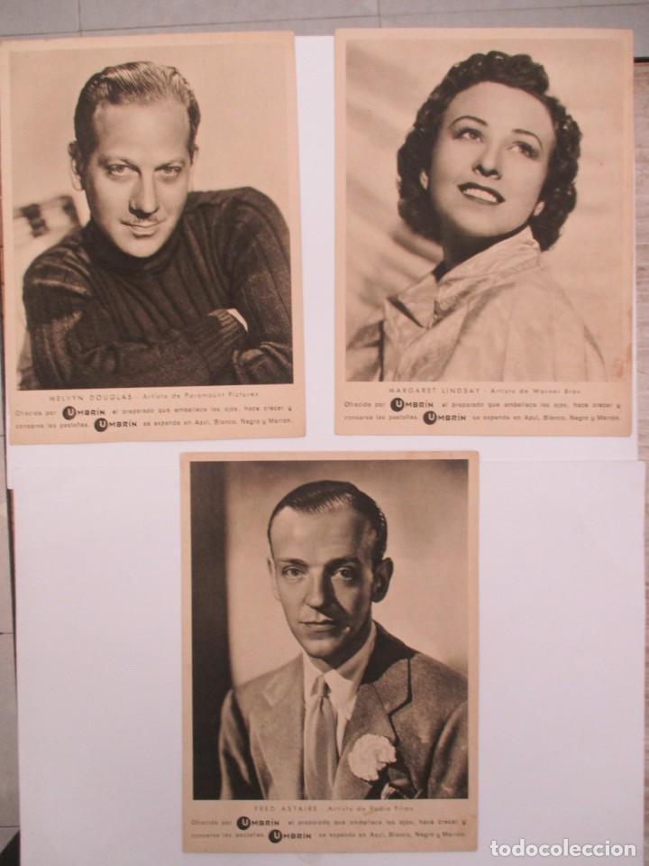 SENSACIONAL LOTE DE 43 POSTALES Y FOTOS DE ACTORES Y ACTRICES AÑOS 30/40 UMBRIN - GASA-MC-EFB (Cine - Fotos y Postales de Actores y Actrices)