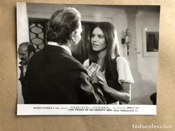 Cine: CALL GIRL: LA VIDA PRIVADA DE UNA SEÑORITA (TERESA RABAL, BARBARA REY 1976. LOTE 13 FOTOGRAFÍAS B/N. - Foto 5 - 132884818