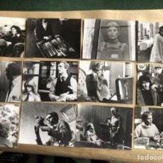 Cine: CÍRCULO DE LA MUERTE (MIA FARROW 1977). LOTE DE 12 FOTOGRAFÍAS EN B/N DE LA PELÍCULA. 18 X 24 CMS.. Lote 132887046