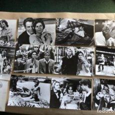 Cine: PLAYERS: PASIONES DE JUEGO (VILAS, MCENROE 1979). LOTE DE 12 FOTOGRAFÍAS EN B/N DE LA PELÍCULA. . Lote 132907358