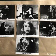 Cine: ÁNGEL DE VENGANZA (ABEL FERRARA 1981). LOTE DE 7 FOTOGRAFÍAS PROMOCIONALES DE LA PELÍCULA. B/N.. Lote 132909558