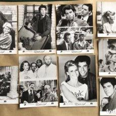 Cine: TAL PARA CUAL (JOHN TRAVOLTA, OLIVIA NEWTON 1983). LOTE 8 FOTOGRAFÍAS PROMOCIONALES EN B/N.. Lote 132912930