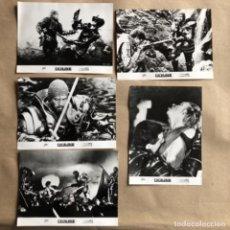 Cine: EXCALIBUR (JOHN BOORMAN 1981). LOTE DE 5 FOTOGRAFÍAS PROMOCIONALES DE LA PELÍCULA EN B/N.. Lote 132917422