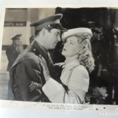 Cinéma: JAMES ELLISON ALICE FAYE - FOTO B/N ORIGINAL - THE GANG'S ALL HERE THE GIRLS HE LEFT BEHIND. Lote 133335378
