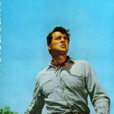 Cine: POSTAL ORIGINAL AÑOS 60 A COLOR (ROCK HUDSON). Lote 133575486