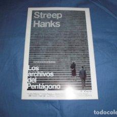 Cine: LOS ARCHIVOS DEL PENTAGONO. GUIA PUBLICITARIA SENCILLA DE LA PELICULA. NUEVO. ORIGINAL. Lote 206940708