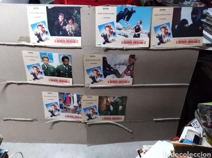 EL GUERRERO AMERICANO II 8 FOTOCROMOS ORIGINALES Q (Cine - Fotos, Fotocromos y Postales de Películas)