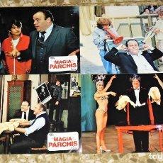 Cine: LA MAGIA DE PARCHIS - 4 FOTOCROMOS. Lote 134313098