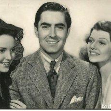 Cine: LINDA DARNEY-TYRONE POWER Y RITA HAYWORTH- FOTO ORIGINAL 1949. Lote 134315426