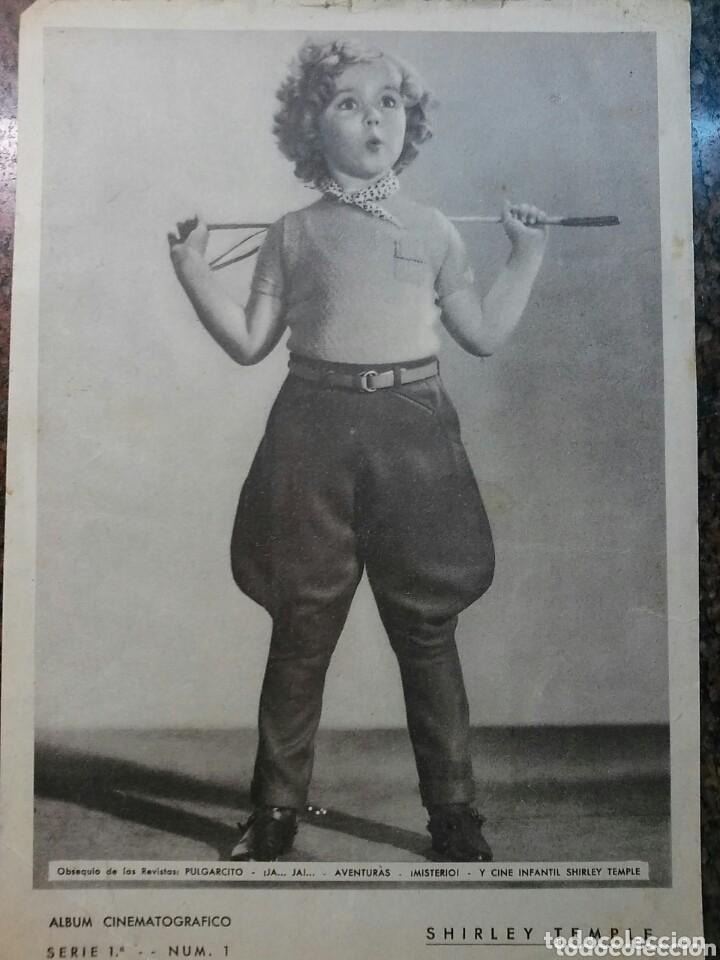 ANTIGUA FOTO DE SHIRLEY TEMPLE. ÁLBUM CINEMATOGRÁFICO SERIE 1A, N°1 OBSEQUIO DE REVISTA PULGARCITO (Cine - Fotos y Postales de Actores y Actrices)
