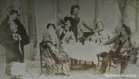 Lote de 2 foto postales cine mudo o teatro