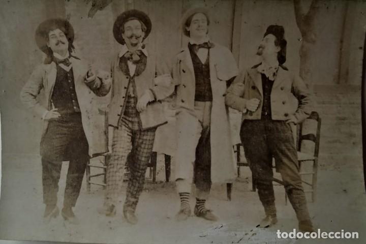 Cine: Lote de 2 foto postales cine mudo o teatro - Foto 3 - 134751086