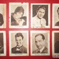 Cine: LOTE DE 8 CROMOS DE ACTORES. CHOCOLATES MENEN, DE OVIEDO. MUY RAROS.. Lote 135554858