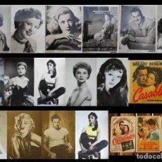 Cine: GRAN LOTE VINTAGE DE 16 FOTOS Y 3 CALENDARIOS DE ACTORES Y ACTRICES (VER FOTOS ADICIONALES) . Lote 135701123
