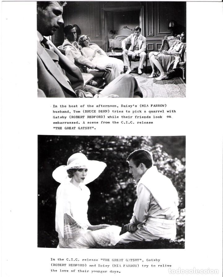 FOTO ORIGINAL BLANCO Y NEGRO (20X25) ROBERT REDFORD (EL GRAN GASTBY) (Cine - Fotos y Postales de Actores y Actrices)
